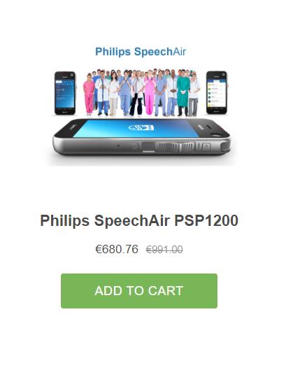 Philips Speech Air Grafimedia Order now