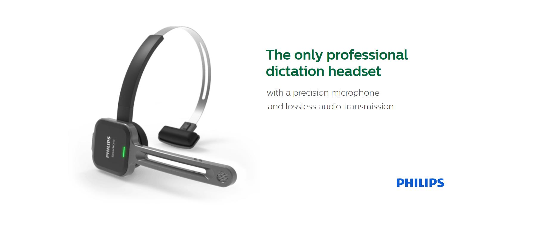 Philips SpeechOneWireless Dictation Headset