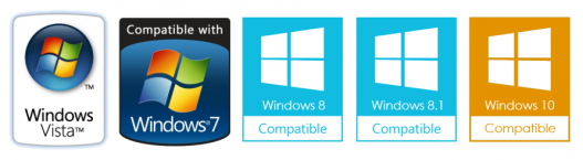 Compatible with Windows Vista 7, 8, 8.1 and 10