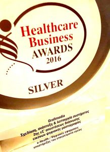 "Silver Award for www.grafimedia.eu at the ""Healthcare Business Awards 2016"" by Boussias Communications."